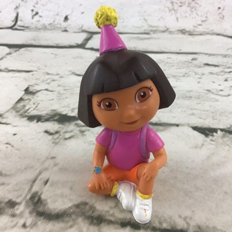 Nick Jr Dora The Explorer Happy Birthday Sitting Dollhouse Figure PVC Vinyl Toy