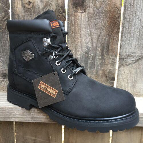 Harley Davidson Mens Boots Black Leather BadLands
