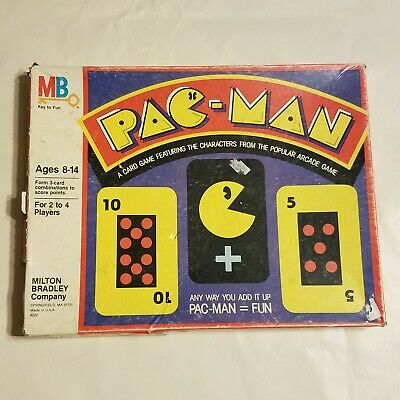 Vintage PAC-MAN Board Card Game w/ Box 1980 Milton Bradley MB 100% Complete