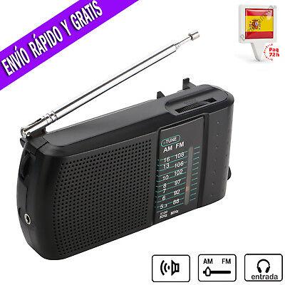 Radio Portatil FM AM Transistor de Bolsillo con Altavoz y Jack Para...
