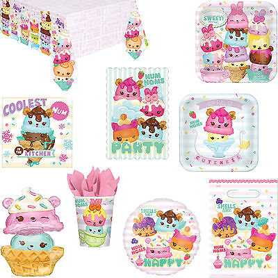 Num Noms Cupcake Happy Birthday Party Supplies Tableware, Decorations, Balloons