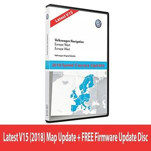 NEW VW SKODA SEAT V15 RNS510 RNS810 2018 Navigation Map West Europe + Update CD