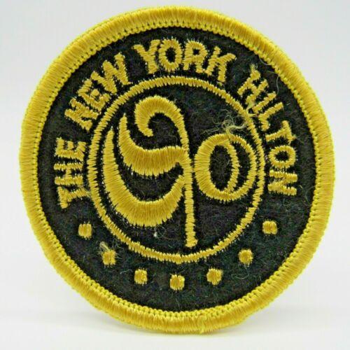 Vintage The New York Hilton at Rockefeller Center Uniform Patch Yellow Black