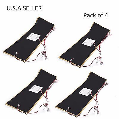 """Facon 4pcs 7.25"""" x 25"""" RV Water Holding Tank Automatic Thermostat Heater Pad 12V"""