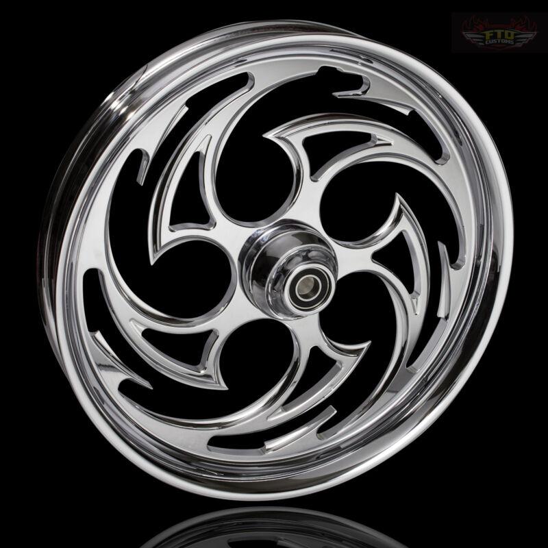 "Harley Davidson Street Glide 30"" Inch Custom Chrome Front Wheel ""predator"""