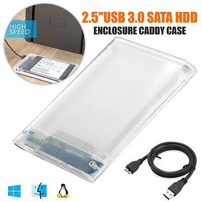 2,5 Zoll USB 3.0 SATA3 5gbps Festplattengehäuse Caddy Fall für externe HDD SSD ()