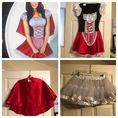 Spirit Halloween Red Riding Hood Costume M Seller Is Away Until July 8