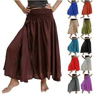SKIRT-Harem-Boho-Maxi-hippie-trendy-long-women-elastic-variable-waist-chic-40-14