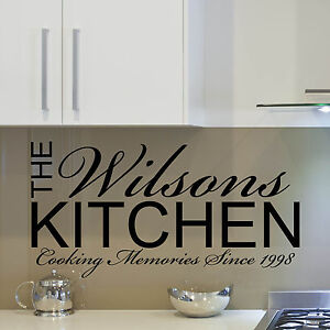 Personalised kitchen wall sticker quote dining room for Ebay dining room wall art