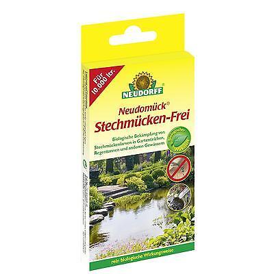 NEUDORFF- Neudomück Stechmücken-Frei,10 Tab Mücken Teich Mückenlarven Regentonne