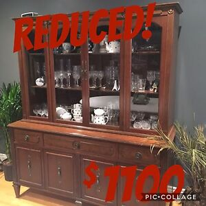 Gibbard Solid Cherry Buffet and Hutch
