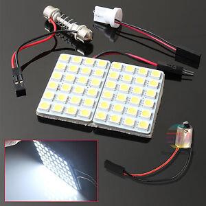 48 LED 5050 SMD DC 12V Car Interior Lights Panel Bulb Lamp T10&BA9S Dome Festoon