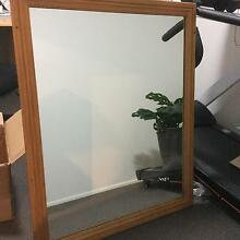 Mirror with wooden frame Raby Campbelltown Area Preview