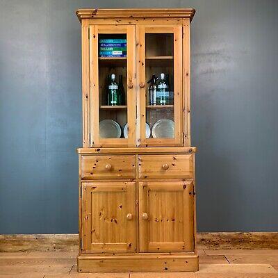 Vintage Pine Dresser / Pine Bookcase /  Kitchen Dresser / Rustic Cabinet