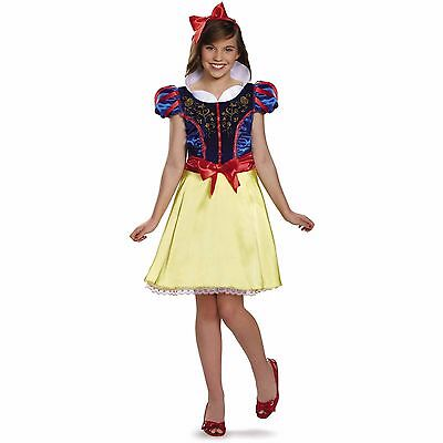 Tween Snow White Costume (Snow White Disney Princess Girl Tween Costume w/ Headband Size L 10-12 Brand)