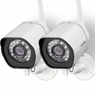 Zmodo 2 720p HD IP Wireless Network IR-cut Out of doors Indoor Home Security Camera