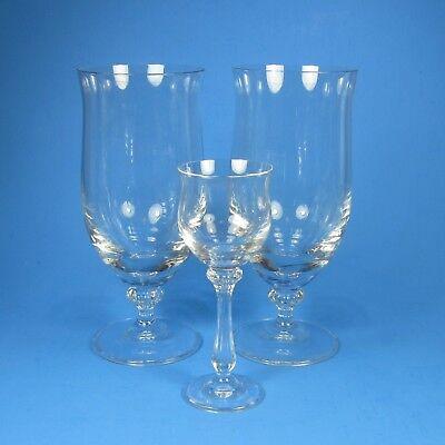 Mikasa ARDMORE 2 Iced Tea Glasses 1 Cordial Sherry Glass Clear - Iced Tea Liqueur