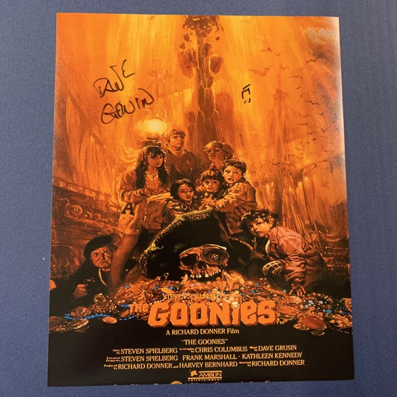 DAVE GRUSIN HAND SIGNED 8x10 PHOTO AUTOGRAPHED THE GOONIES MOVIE COMPOSER COA