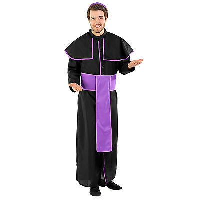 Herren Kostüm Priester Pfarrer Pastor Kirche Geistlicher Pater Fasching Karneval