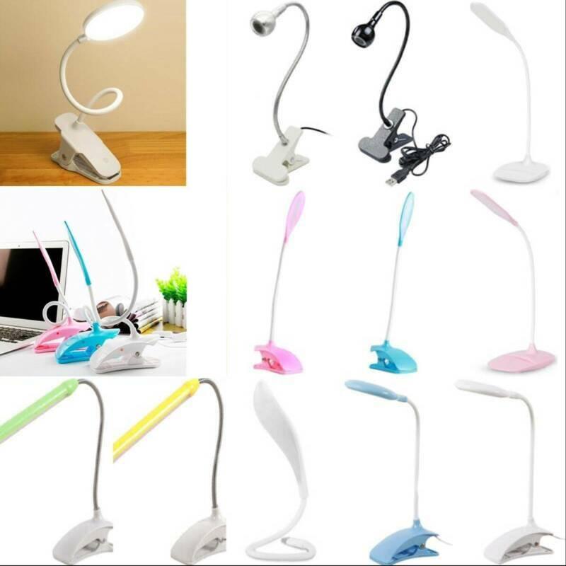 USB Flexible Reading LED Light Clamp-on Beside Bed Desk Tabl