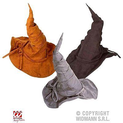 Hexen Magier Zauberer Hut formbar Hexenhut braun grau oder schwarz Erwachsene ()