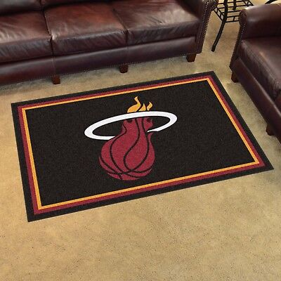 Miami Heat 4' X 6' Decorative Ultra Plush Carpet Area Rug - Miami Heat Decorations