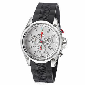 Swiss Alpine Military Men 1635.9832 SAM Red force Chronograph Dial Watch