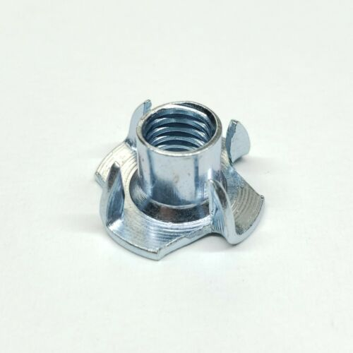 """3/8""""-16 x 7/16"""" Zinc - 4 Prong - Tee Nut (Select your Quantity)"""