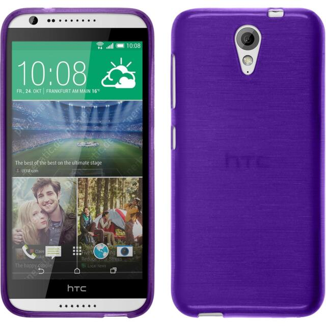 Silicone Case HTC Desire 620 - brushed purple + protective foils