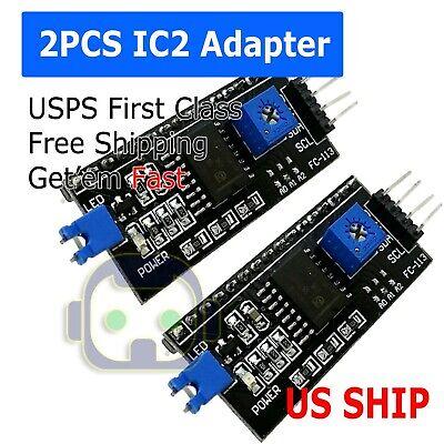 2x Iici2c Interface Serial Board Adapter Module Arduino 1602 2004 Lcd Display
