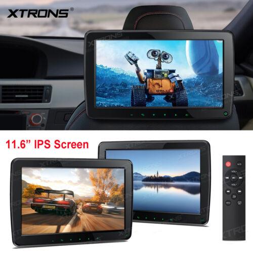 "2x 11.6"" HD IPS Screen Auto Car Headrest Player Monitor USB SD 1080P Video HDMI"