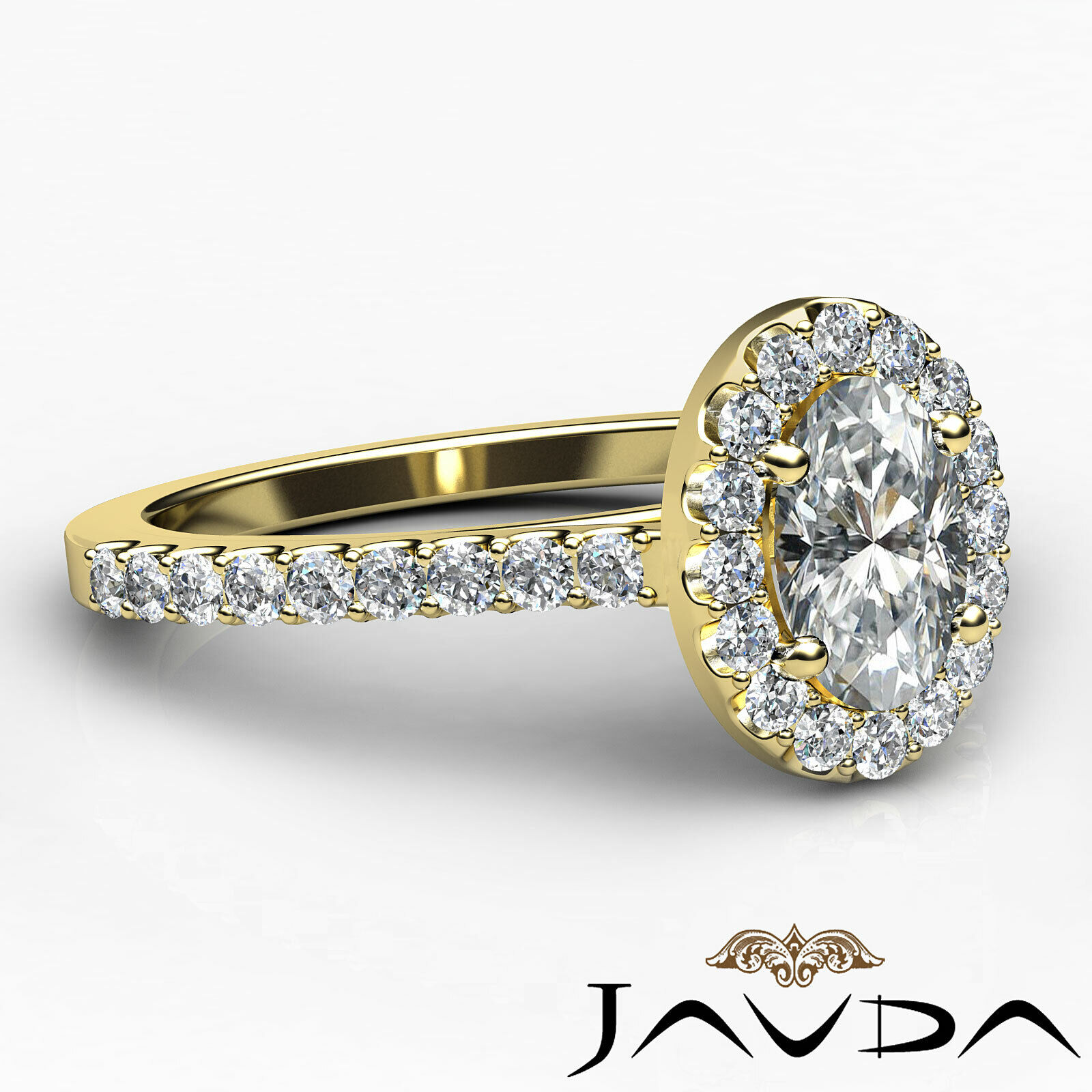 1.6ctw Prong Setting Oval Diamond Engagement Ring GIA H-VS1 White Gold Women New 9