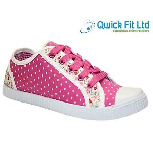 GIRLS-KIDS-CASUAL-MERCURY-FLAT-SHOES-BACK-TO-SCHOOL-CANVAS-PUMPS-SHOES-TRAINERS