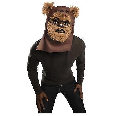 Adult Teen Star Wars Ewok Wicket Warrick Halloween Cosplay Costume Face - Ewok Costume Adult