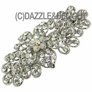 BARRETTE HAIR CLIPS LARGE DIAMANTE SPARKLY VINTAGE HAIR CLIP FRENCH CLIP SLIDE