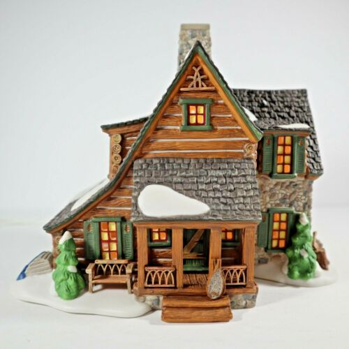 Dept. 56 New England 25th Anniversary Mountain View Cabin #2128/10,000 Excellent