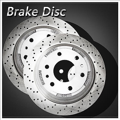 Set of 2 [ Drilled+Vented ] OE Upgrade Rear Left+Right Zinc Disc Brake Rotors