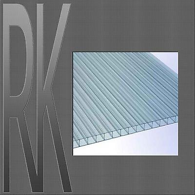 Polycarbonat 2-fach Doppelstegplatten/Hohlkammerplatte, 6mm,klar, 1500mm x 605mm