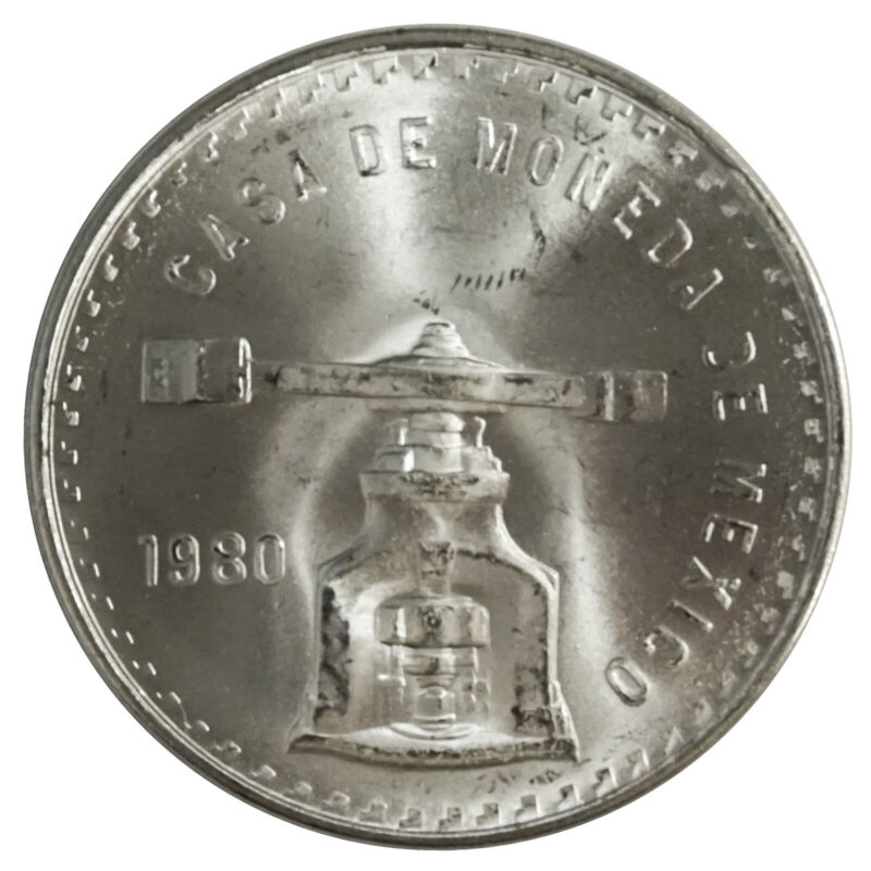 1980 Mexico Casa de Moneda 1oz Silver Peso - 33.625gr .925