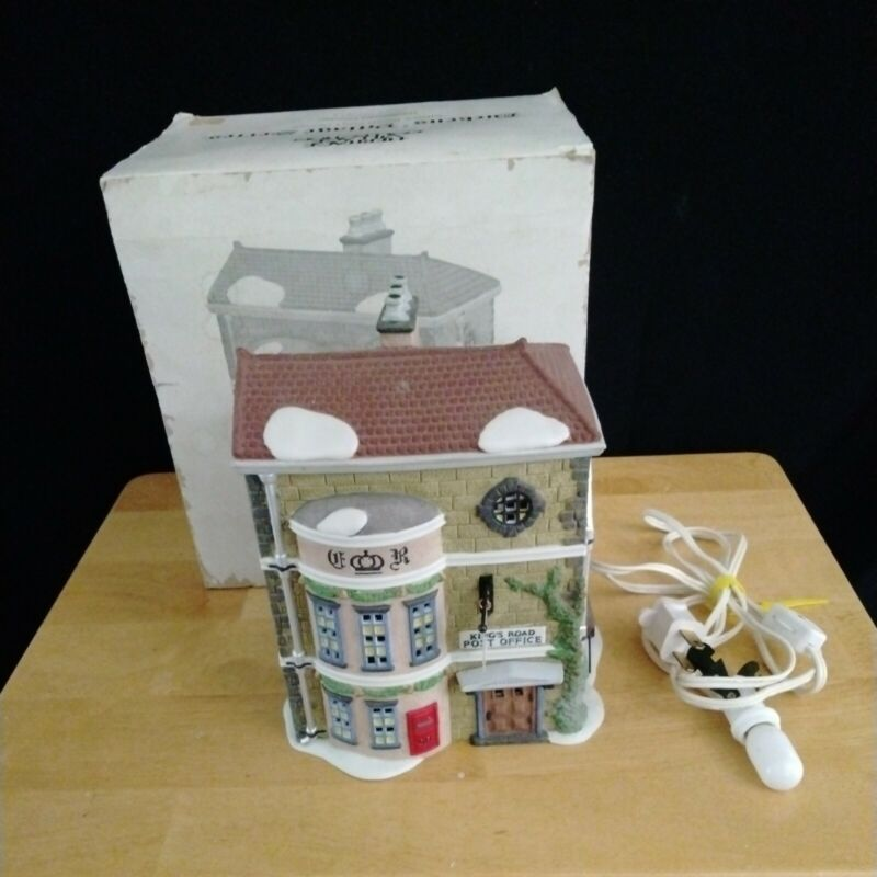 DEPT 56 Dickens' Village Series KINGS ROAD POST OFFICE with Box & Light #5801-7