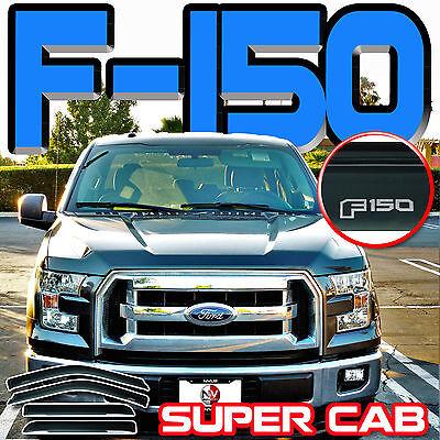 Cab Sun Visors - 2015-2018 F150 Supercab Side Window Deflectors Vent Shades Sun Visors Super Cab