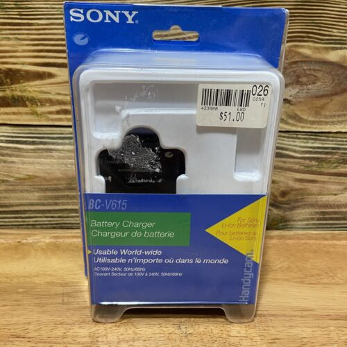 NEW Original SONY BC-V615 Battery Charger For SONY Li-ion Batteries - JAPAN Made - $19.99