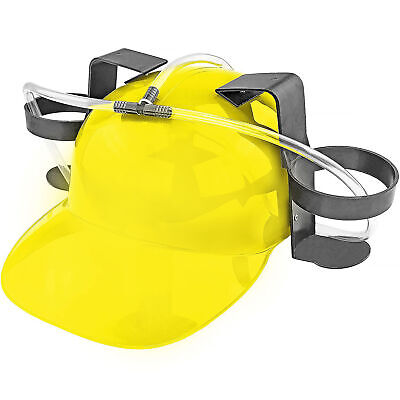 Beer & Soda Guzzler Helmet Drinking Hat, Yellow – Party Novelty Gag Gift NEW! Clothing, Shoes & Accessories