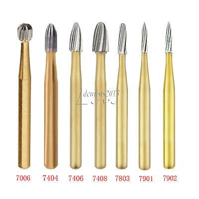 Dental Trimming Finishing Carbide Burs Gold Burs 700674047406740871047803