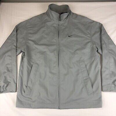 Nike Men's Light Blue/Gray Full Zip Lightweight Windbreaker Jacket Size Medium
