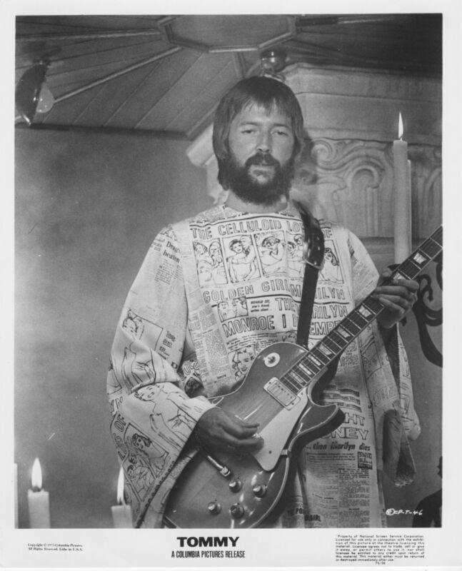 TOMMY original photo ERIC CLAPTON/THE WHO 1975 b/w movie publicity lobby still