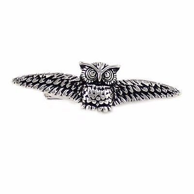 New Novelty Fashion Silver Tone Wing Tie Clip 0775