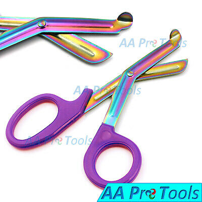 Multi Blades 7.5 Utility Emt Bandage Scissors Paramedic Shears Purple Handle