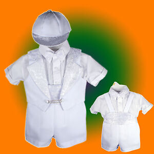 Baby-Boy-Communion-Christening-Baptism-Outfit-Tuxedo-Suit-size-012345-0-36M