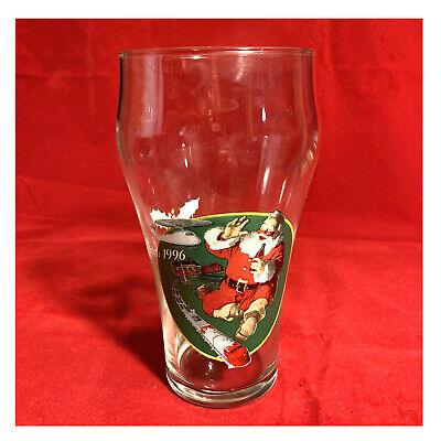 Coca-Cola Christmas 1996 Santa Claus with Lionel Santa Fe Train Set Glass